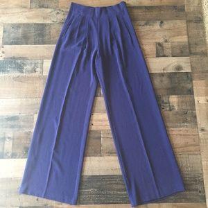 Parker Blue Wide Leg High Waisted Eldora Pants -XS